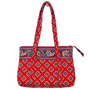 VERA BRADLEY | Villa Red Betsy Zip-Up Tote Bag
